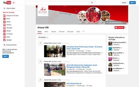 Screenshot of YouTube Page youtube.com - Alissar EM  - YouTube - captured Oct. 23, 2014