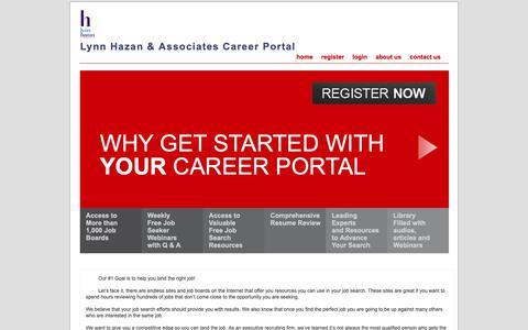 Screenshot of Home Page mylynnhazancareer.com - Lynn Hazan & Associates Career Portal - captured Oct. 24, 2018