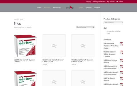 Screenshot of Products Page plaster.com - Shop | USG Plaster | Plaster - captured April 10, 2017