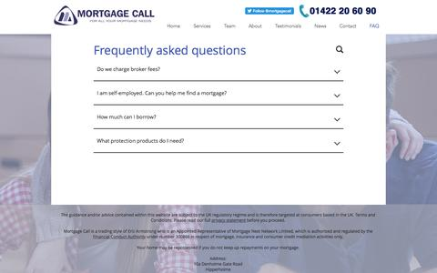Screenshot of FAQ Page mortgagecall.co.uk - mortgagecall | FAQ - captured May 11, 2017