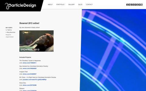 Screenshot of Blog particledesign.nl - Blog | ParticleDesign - captured Sept. 29, 2014