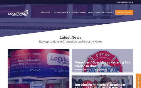 Screenshot of Press Page locution.com - News   Locution Systems, Inc. - captured Aug. 29, 2017