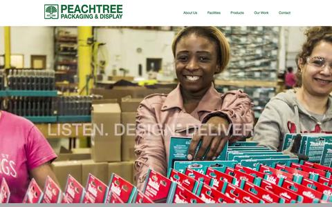 Screenshot of Home Page peachtreepackaging.com - Consumer Packaging | Atlanta, GA | Peachtree Packaging and Display - captured July 16, 2018