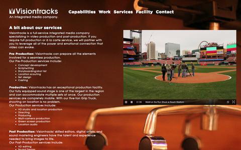 Screenshot of Services Page visiontracks.com - Our Services   Visiontracks, Inc. - captured Oct. 26, 2014