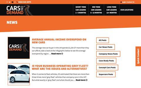 Screenshot of Press Page carsondemand.co.uk - Leasing News | Cars On Demand - captured Feb. 17, 2018