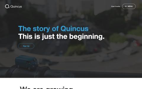 Screenshot of About Page quincus.com - Quincus � About - captured Dec. 15, 2015