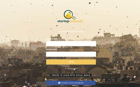 Screenshot of Login Page startupnomads.com - Sign In | Startup Nomads - captured Sept. 30, 2014