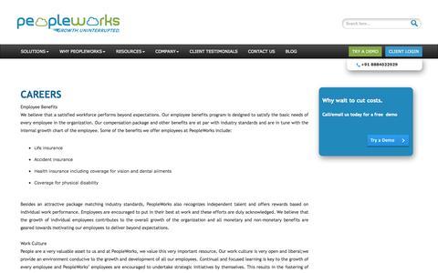 Screenshot of Jobs Page peopleworks.in - Careers | PeopleWorks - captured Oct. 2, 2014