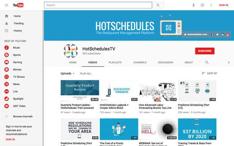 HotSchedulesTV - YouTube