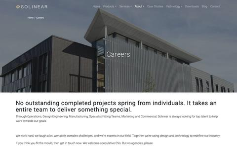 Screenshot of Jobs Page solinear.co.uk - Careers - Solinear - captured Oct. 20, 2018