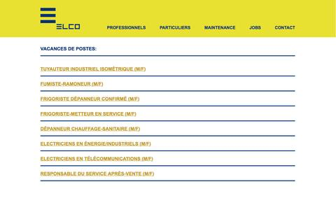 Screenshot of Jobs Page elco.lu - Elco Offres d\'emploi - captured July 10, 2016