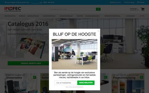 Screenshot of Home Page inofec.nl - INOFEC kantoormeubelen en schoolmeubilair | Inofec - captured Aug. 5, 2016