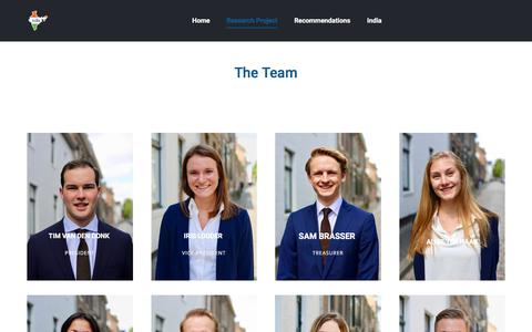 Screenshot of Team Page researchproject.nl - The Team - Research Project Maastricht - captured Nov. 9, 2017