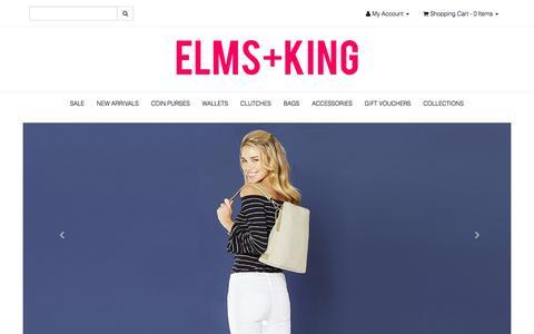 Screenshot of Home Page elmsandking.com - ELMS+KING | Handbags & Accessories - captured Jan. 16, 2017