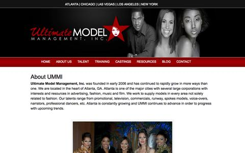 Screenshot of About Page umodelinc.com - About Us | Ultimate Model Management, Inc. - captured Oct. 4, 2014