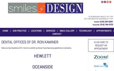 Screenshot of Locations Page nylaserdentistry.com - Locations | Oceanside NY Dentist | Hewlett NY Dentist - captured Oct. 31, 2018