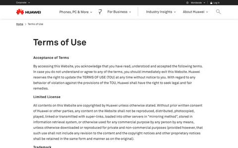 Terms of Use - Huawei