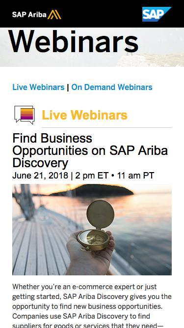 Supplier Commerce Consultants Best Practice Webinars | SAP Ariba