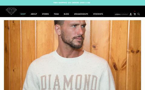 Screenshot of Home Page diamondsupplyco.com captured Nov. 18, 2015