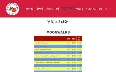 Screenshot of Pricing Page bouncenow.com - Pricing – Bounce Now - captured Oct. 31, 2018