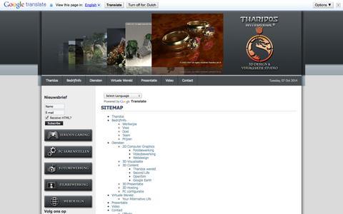 Screenshot of Site Map Page tharidos.com - Sitemap - captured Oct. 7, 2014
