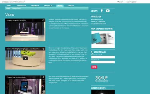 Screenshot of Press Page crealev.com - Video | CREALEV - captured Sept. 22, 2014