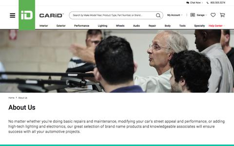 Screenshot of About Page carid.com - CARiD.com - ABOUT US - captured June 13, 2018