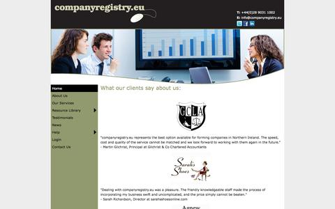 Screenshot of Testimonials Page companyregistry.eu captured Oct. 2, 2014