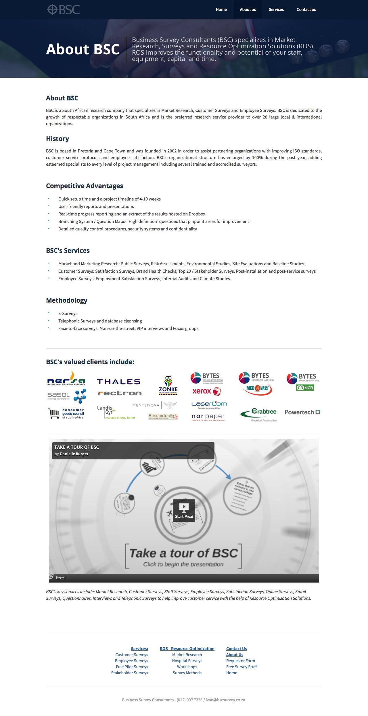 Screenshot of businesssurveyconsultants.com - About BSC - Business Survey Consultants - Business Survey Consultants - captured Oct. 5, 2014