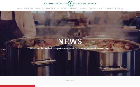 Screenshot of Press Page gourmetclassic.com - News - Gourmet Classic - captured Nov. 12, 2016