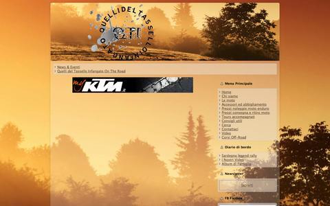 Screenshot of Press Page quellideltasselloinfangato.it - quellideltasselloinfangato.it - News & Eventi - captured Oct. 7, 2014