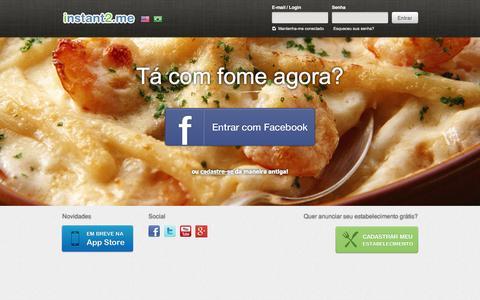 Screenshot of Home Page instant2.me - Restaurante,bar,churrascaria,pizza,cafe,sushi agora | instant2me - captured Oct. 6, 2014