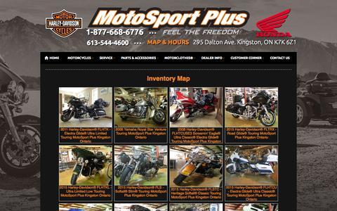 Screenshot of Site Map Page motosportplus.com - Inventorymap | MotoSport Plus | Kingston Ontario - captured Oct. 9, 2014