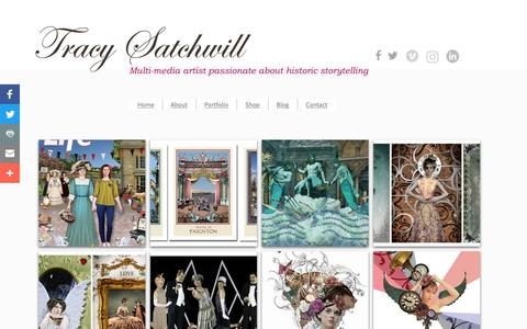 Screenshot of Team Page tracysatchwill.com - People Illustrations - Artist Tracy Satchwill - captured Oct. 18, 2018
