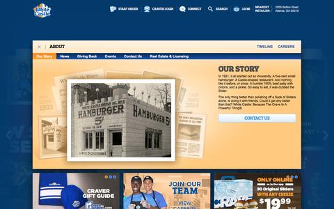 Screenshot of About Page whitecastle.com - White Castle - captured Dec. 3, 2016
