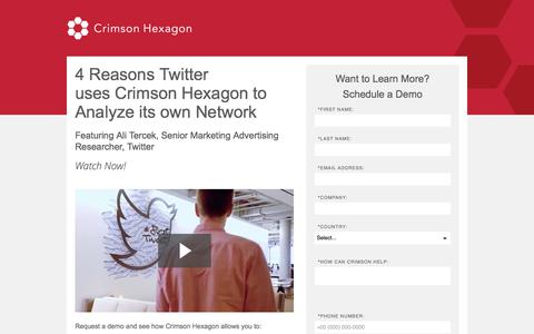Screenshot of Landing Page crimsonhexagon.com - How Twitter Leverages Crimson Hexagon | Track Consumer Trends With Twittter Data - captured March 6, 2018