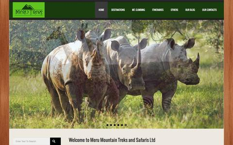 Screenshot of Home Page merutreks.co.tz - Tour travel in Tanzania | Meru Mountain Treks and Safaris - captured Feb. 3, 2016