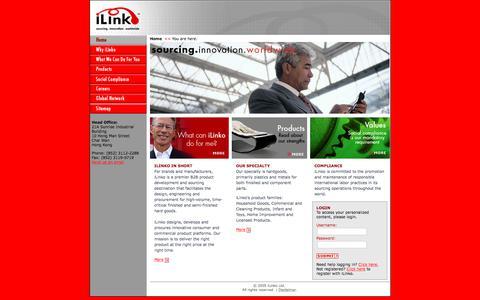 Screenshot of Home Page ilinko.com - ::: iLinko ::: - captured Sept. 20, 2018