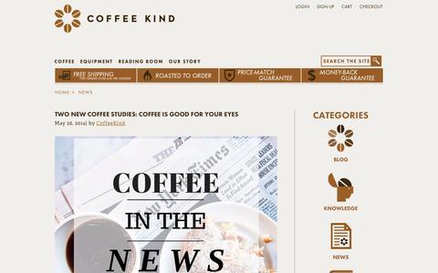 Screenshot of Press Page coffeekind.com - NEWS | Coffee Kind - captured Sept. 25, 2014