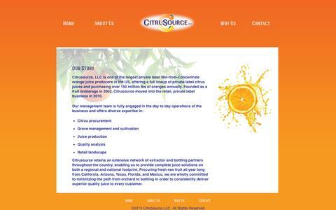 Screenshot of About Page citrusource.com - Citrusource - captured Oct. 5, 2014