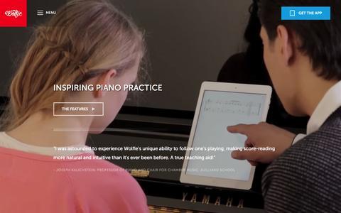 Screenshot of Maps & Directions Page tonara.com - Wolfie for piano app - Tonara and Wolfie for Piano - captured Jan. 19, 2016