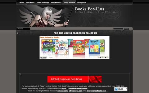 Screenshot of Products Page for-u.us - Young Reader's - captured Oct. 4, 2014