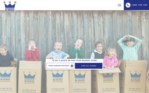 Screenshot of Home Page storageking.com.au - Storage King   The Kings of Storage, Moving & More - captured May 14, 2018
