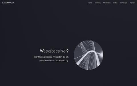 Screenshot of Home Page buzdumovic.de - BUZDUMOVIC.DE - captured Dec. 31, 2017