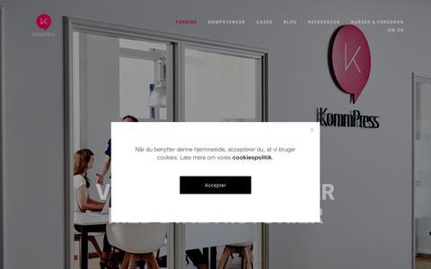 Screenshot of Home Page kommpress.dk - KommPress - captured Oct. 15, 2018