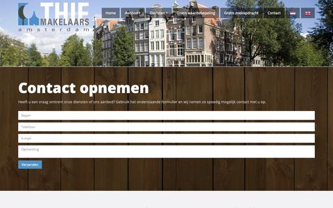 Screenshot of Contact Page thiemakelaars.nl - Contact - Thie Makelaars Amsterdam - captured Oct. 18, 2018