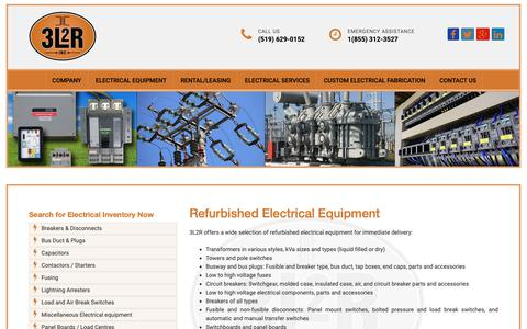 Screenshot of Products Page 3l2r.com - 3L2R | Refurbished Electrical Equipment - captured Oct. 20, 2018