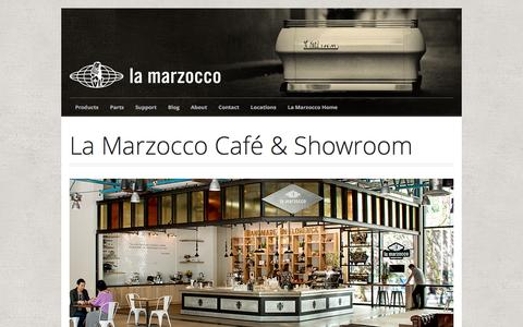 Screenshot of Locations Page lamarzoccousa.com - La Marzocco Cafe Locations - captured Oct. 15, 2016