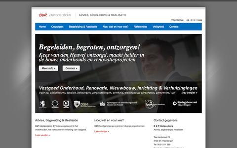 Screenshot of Home Page brvastgoedzorg.nl - B&R Vastgoedzorg - Kees van der Heuvel ontzorgd. - captured Oct. 12, 2015