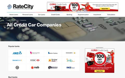 Complete List of Credit Cards Providers in Australia | RateCity